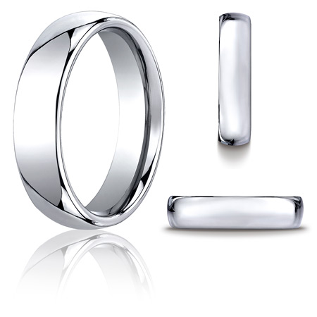 Cobalt Chrome 6mm Domed Wedding Band