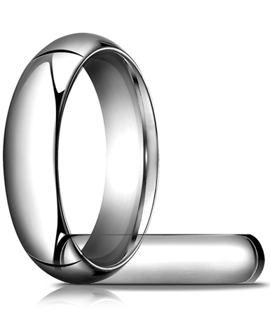 14kt White Gold 6mm Heavy Comfort Fit Wedding Band