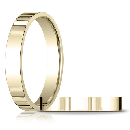 4mm Flat Comfort Fit Band - 14k Yellow Gold