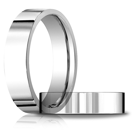 14kt White Gold 6mm Flat Comfort Fit Wedding Band