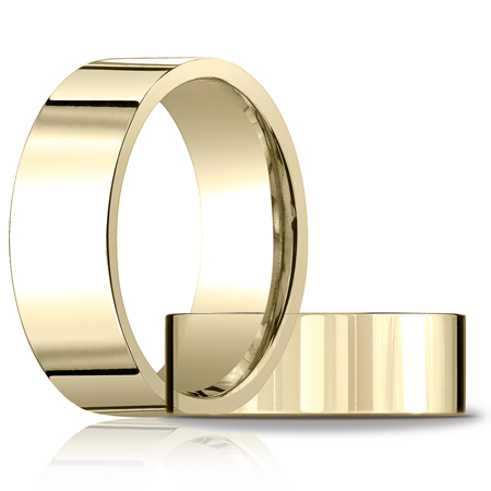 8mm Flat Comfort Fit Band - 14k Yellow Gold