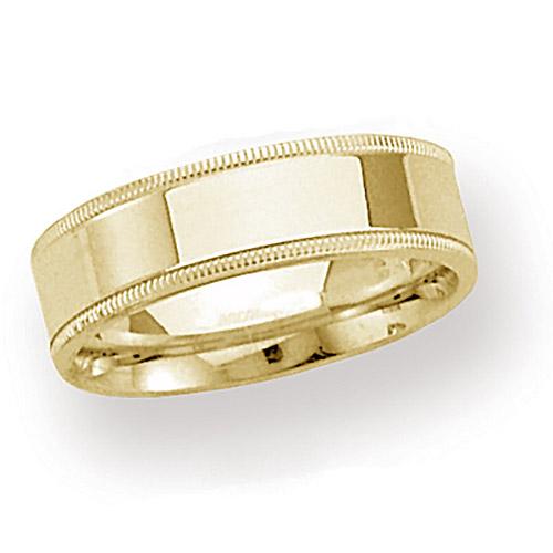 14kt Yellow Gold 6mm Milgrain Comfort Fit Wedding Band
