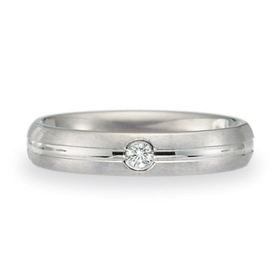 .06 CT Diamond Band 4mm - 14k White Gold
