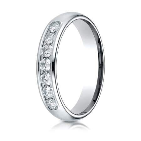2/5 ct Diamond Platinum 4mm Wedding Band