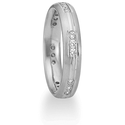 Benchmark 1/3 CT Diamond Band 4mm - 14k White Gold