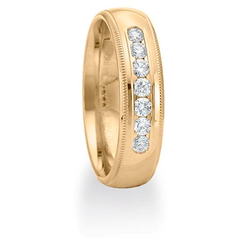14kt Yellow Gold Benchmark 2/5 CT Diamond Wedding Band 6mm