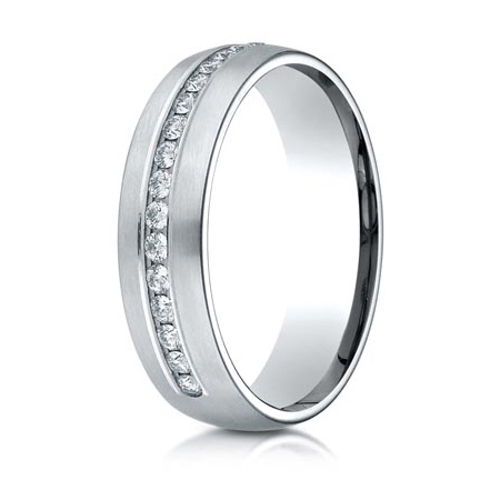 1/3 ct Diamond Platinum 6mm Wedding Band