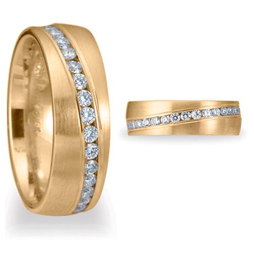 Benchmark 3/4 CT Diamond Band 6mm - 14k Yellow Gold