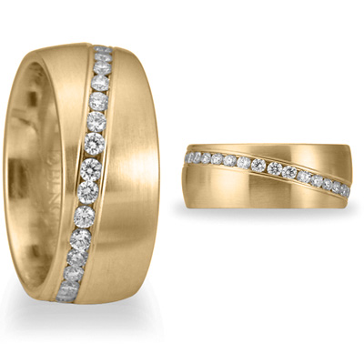 Benchmark 3/4 CT Diamond Band 8mm - 14k Yellow Gold