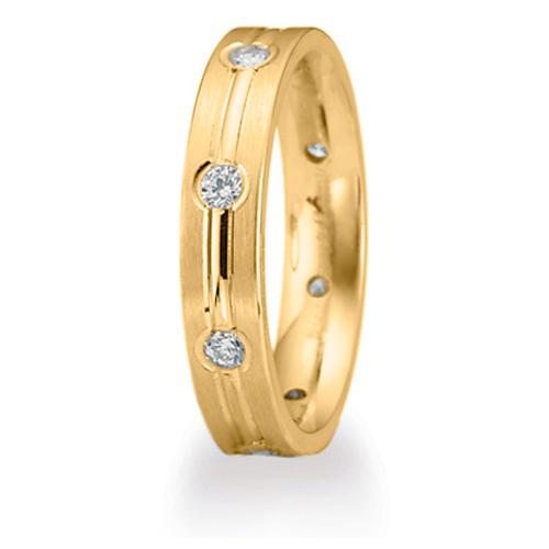 1/3 CT Diamond Band 4mm - 14k Yellow Gold