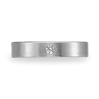 .06 CT Diamond Band 4mm - 14k White Gold
