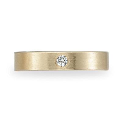 .06 CT Diamond Band 4mm - 14k Yellow Gold