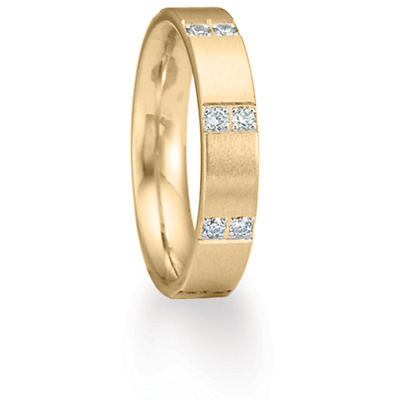 Benchmark 1/3 CT Diamond Band 4mm - 14k Yellow Gold