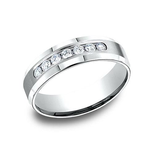 2/5 CT Diamond Platinum Band 6mm