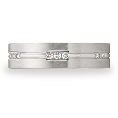 14kt White Gold Benchmark 1/3 CT Diamond 6mm Band