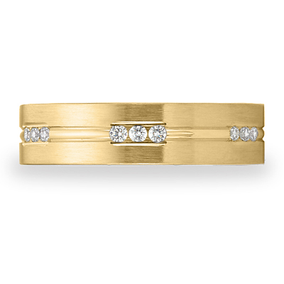 Benchmark 1/3 CT Diamond Band 6mm - 14k Yellow Gold