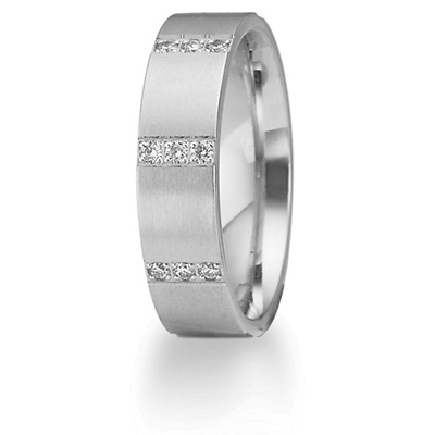 1/2 CT Diamond Band 6mm - 14k White Gold