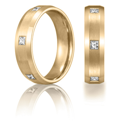 Benchmark 3/5 CT Diamond Band 6mm - 14k Yellow Gold