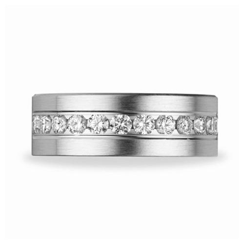 Benchmark 1 CT Diamond Platinum 8mm Wedding Band