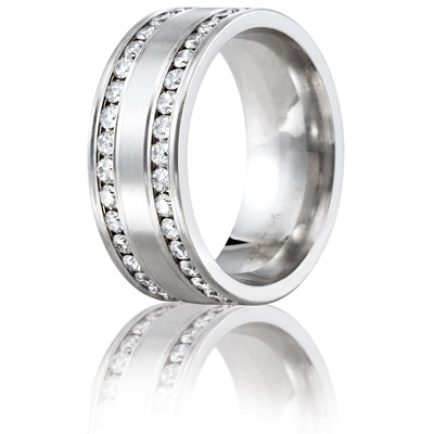 Benchmark 1.5 CT Diamond Platinum Band 8mm