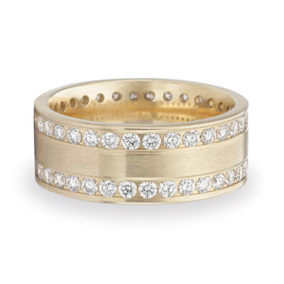 Benchmark 1.5 CT Diamond Band 8mm - 14k Yellow Gold