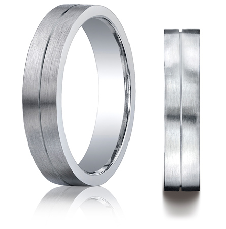 Argentium Silver 5mm Comfort-Fit Band with Satin Finish
