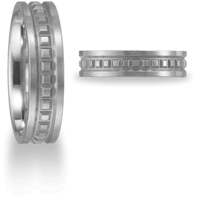 Benchmark 6mm Comfort Fit Band - Platinum