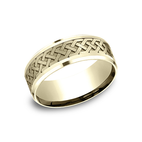 14kt Yellow Gold 8mm Celtic Knot Wedding Band