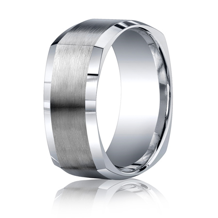 Argentium Silver 9mm Comfort-Fit Four-Sided Band