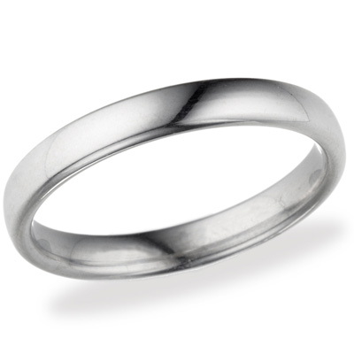 Platinum 3.5mm Euro Comfort Fit™ Wedding Band