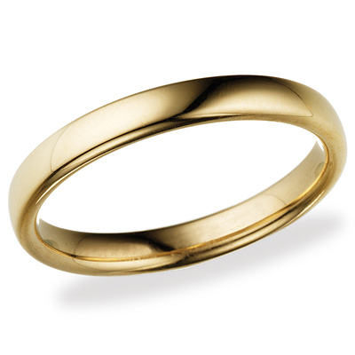 14k Yellow Gold 3.5mm Comfort Fit Wedding Band
