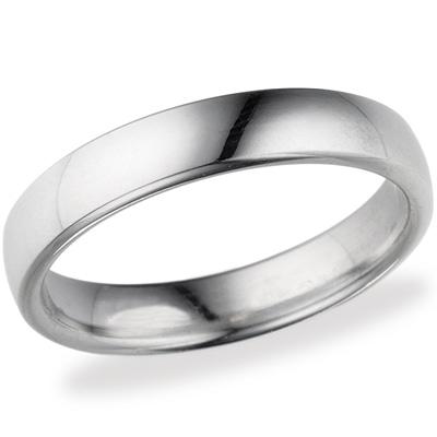 Platinum 4.5mm Comfort Fit Wedding Band