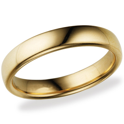 14kt Yellow Gold 4.5mm Comfort Fit Wedding Band