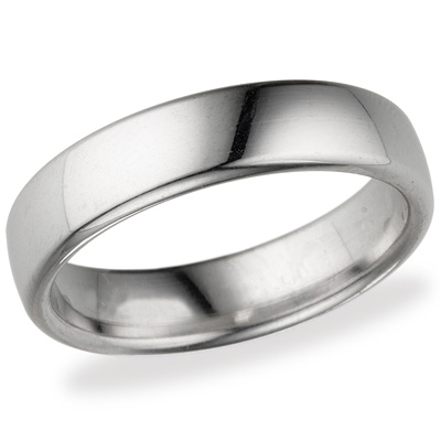 14kt White Gold 5.5mm Euro Comfort Fit™ Wedding Band