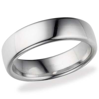 14kt White Gold 6.5mm Comfort Fit Wedding Band