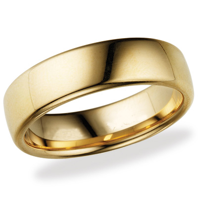 14kt Yellow Gold 6.5mm Euro Comfort Fit™ Wedding Band