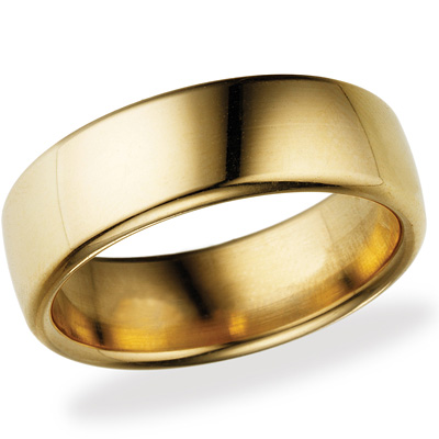 14kt Yellow Gold 7.5mm Comfort Fit Wedding Band