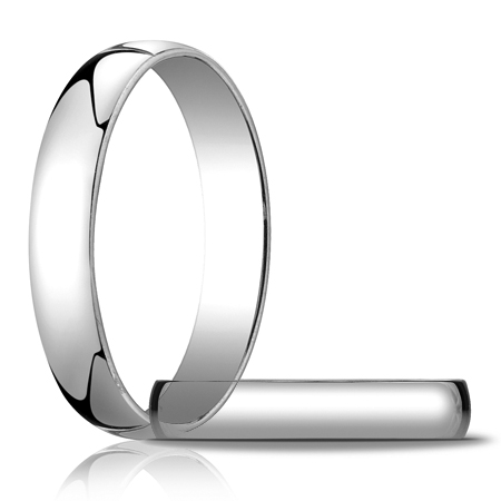 14kt White Gold 4mm Light Oval Wedding Band