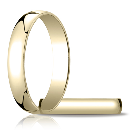 14kt Yellow Gold 4mm Light Oval Wedding Band