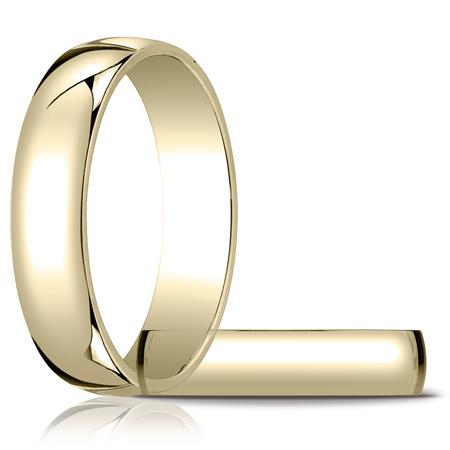14kt Yellow Gold 5mm Light Oval Wedding Band