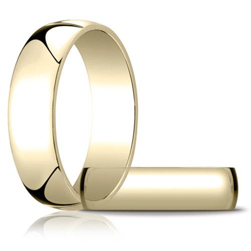 14kt Yellow Gold 6mm Light Oval Wedding Band