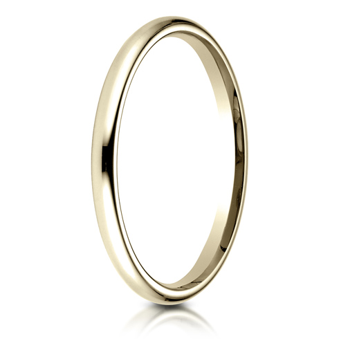 14kt Yellow Gold 2mm Comfort Fit Wedding Band