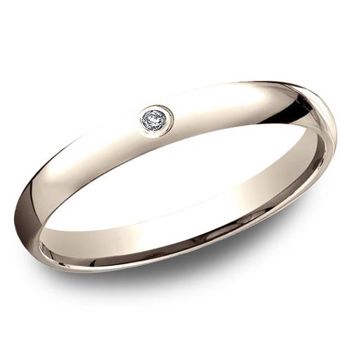 14kt Rose Gold .02 CT Diamond Promise Ring