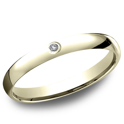 14kt Yellow Gold .02 CT Diamond Promise Ring