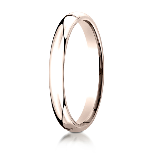 14kt Rose Gold 3mm Comfort Fit Wedding Band