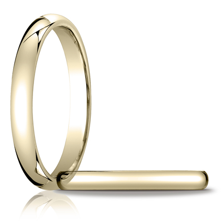 14k Yellow Gold 3mm Heavy Comfort Fit Wedding Band