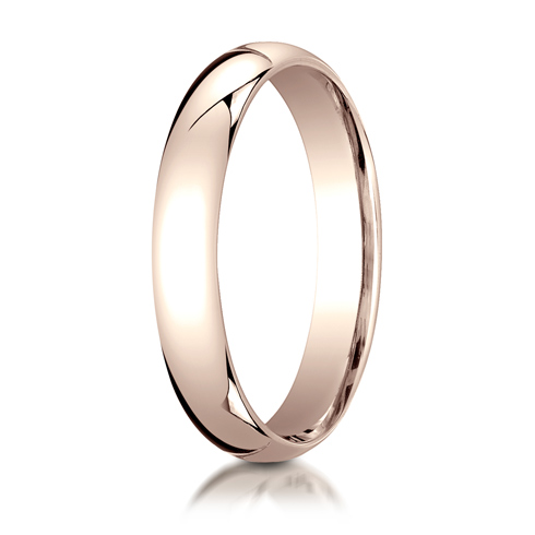 4mm 14kt Rose Gold Comfort Fit Wedding Band