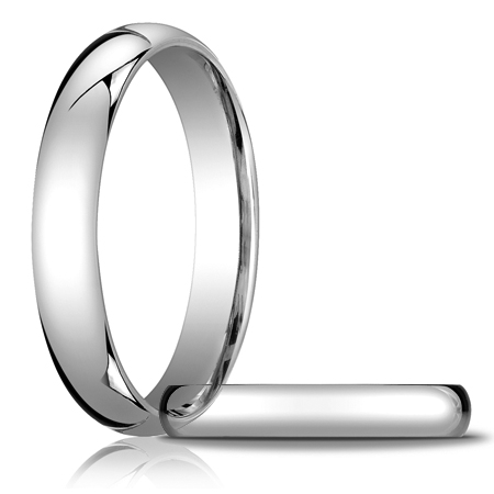 Platinum 4mm Light Comfort Fit Wedding Band