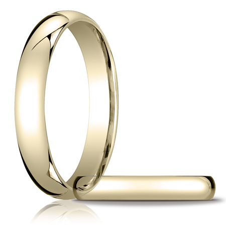 4mm Heavy Comfort Fit Band - 14k Yellow Gold