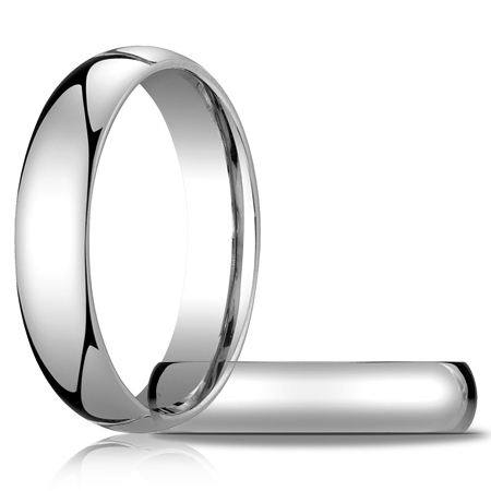 14kt White Gold 5mm Light Comfort Fit Wedding Band